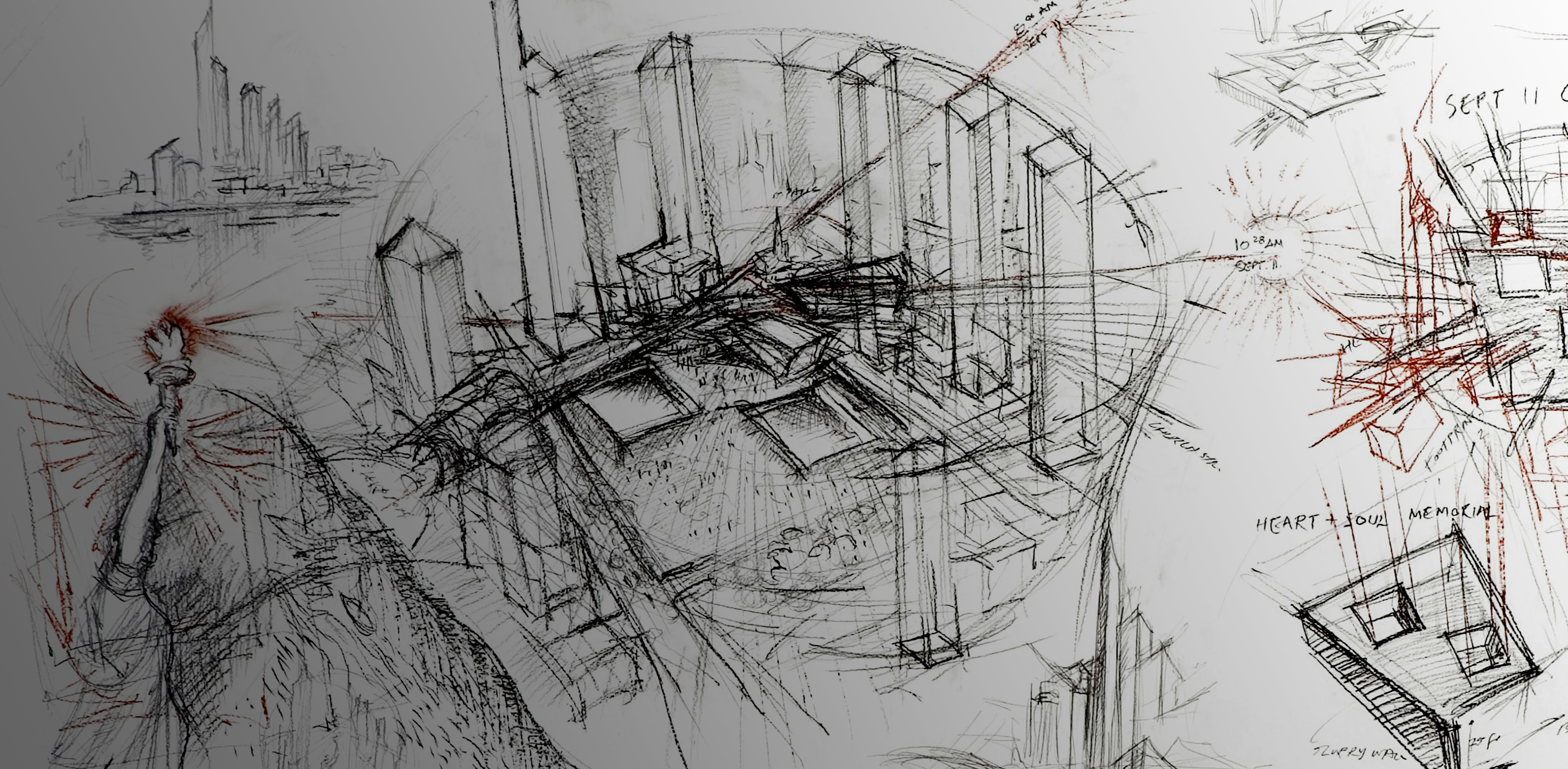 How Architecture Is Born 7 Poetic Sketches By Daniel Libeskind And The Buildings They Inspired Architizer Journal
