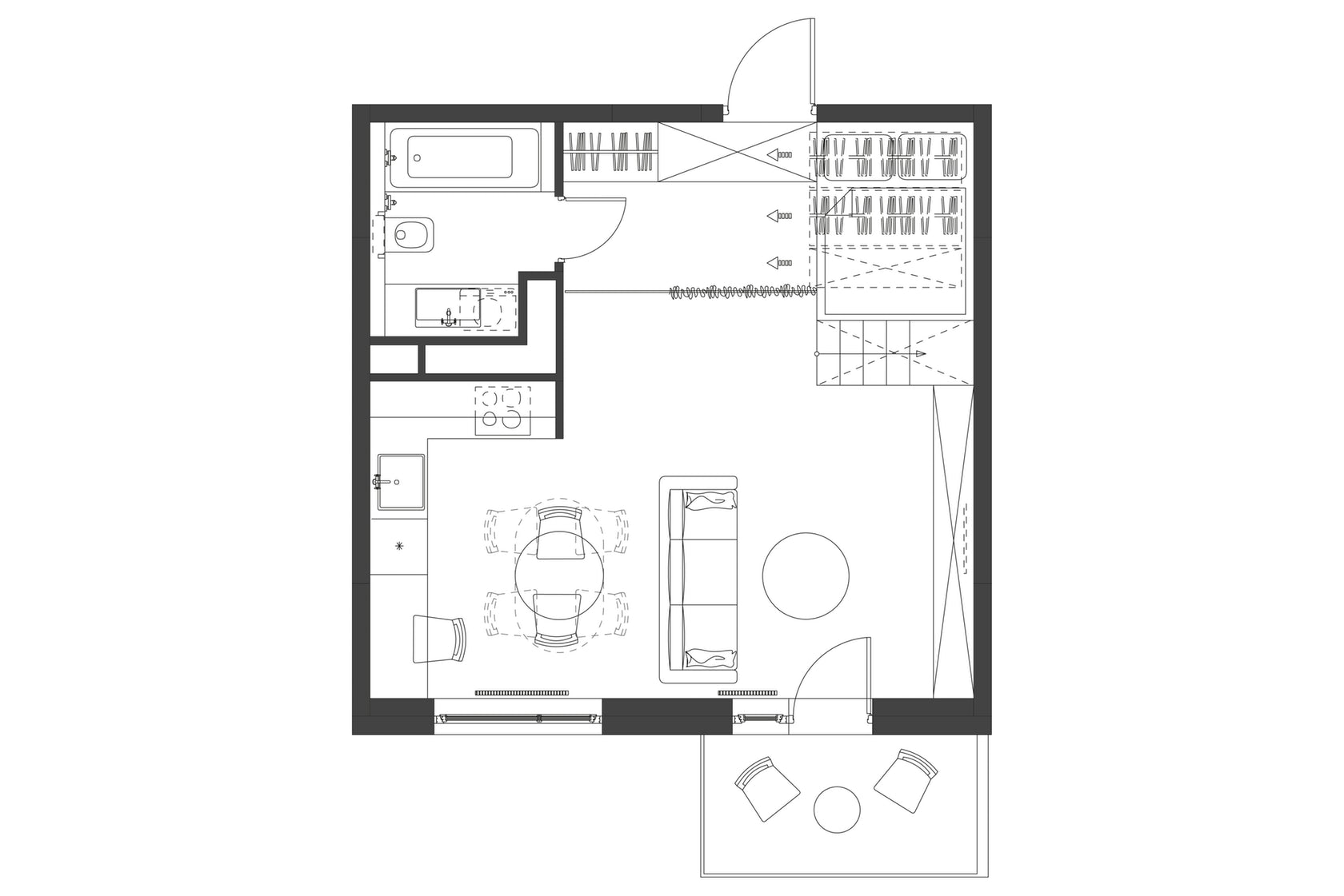 Architectural Drawings 10 Clever Plans For Tiny Apartments
