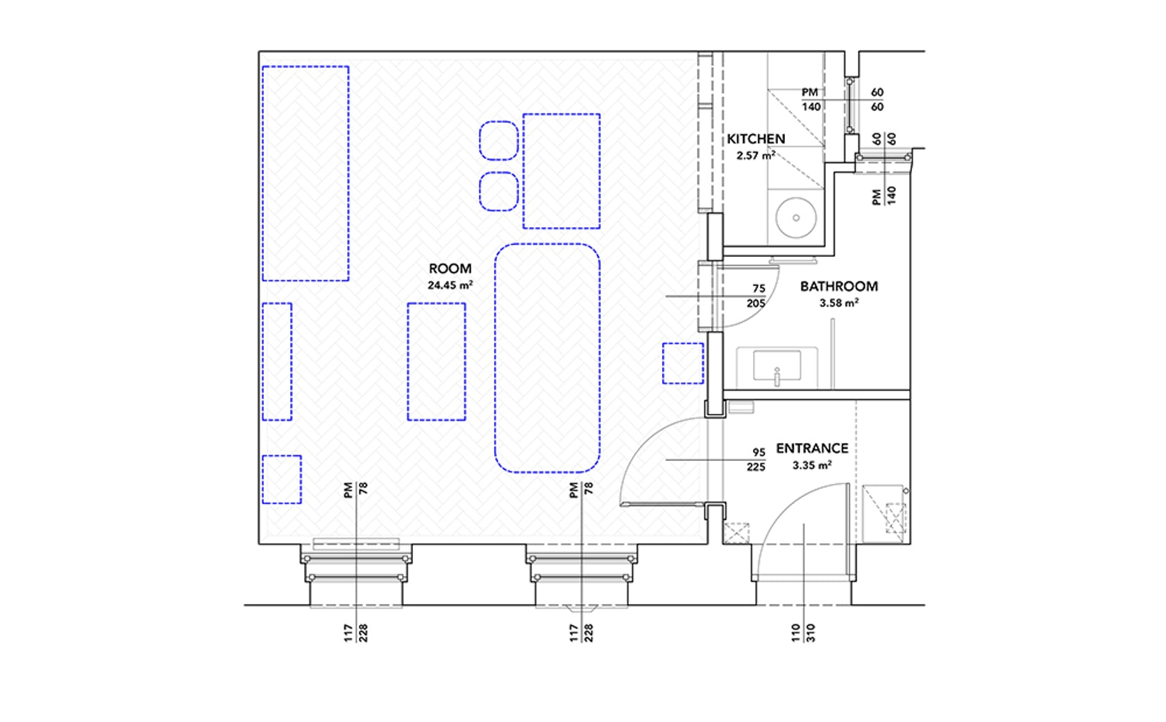 Architectural Drawings: 10 Clever Plans for Tiny Apartments ... on framing plans, narrow yard landscaping ideas, narrow sink, narrow house layout, narrow home, narrow 3 story house, narrow lot house, narrow house interior design, narrow windows, narrow house roof, narrow art, narrow beach house, narrow kitchens, small lake lot plans, narrow house elevations, narrow bedroom, narrow doors, narrow modern house, narrow garden, narrow cabinets,